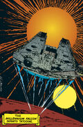 Millenium Falcon departs Tatooine RotJ2