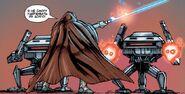 Orgus fights Sith war droids