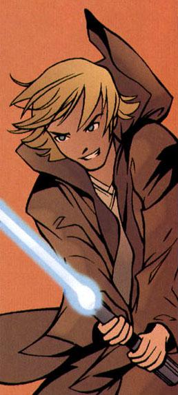 Ben Skywalker with grandfathers lightsaber SWT19.jpg