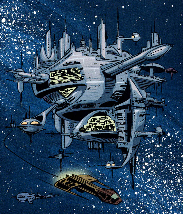 Станция ликвидации космического мусора в глубоком космосе