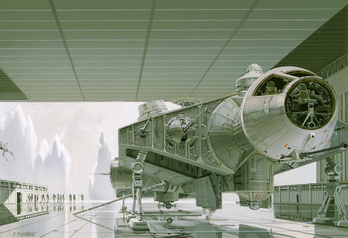 Ralph McQuarrie art of captive Falcon on Imperial capital planet of Alderaan.png