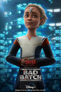 Star Wars The Bad Batch Omega poster