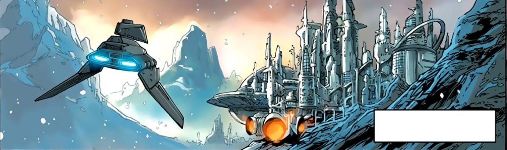 Неизвестная ледяная планета (горные работы)