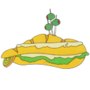 You've been visited by the Yellow Submarine Sandwich!