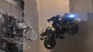 Tex on Motorbike