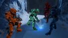 Tucker burns ice with sword
