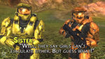 RvB Awards - Best Quote Sister