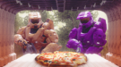 Doc cooking pizza