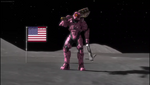 Donut on the moon