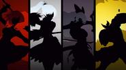 BlazBlue Cross Tag Battle Team RWBY silhouettes