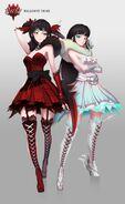 Amity Arena character art of Malachite Twins