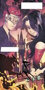 RWBY DC Comics 1 (Chapter 1) Cinder and Adam during the Battle of Beacon