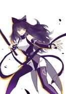 RWBY Manga Anthology concept art cover of Blake by Ein Lee