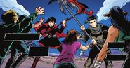 RWBY Justice League 4 (Chapter 8) Ruby and Bruce fighting brainwashed citizens