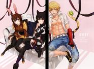 Blake, Velvet, Sun (RWBY Official Japanese Fanbook, Illustration,Mitsukaze)