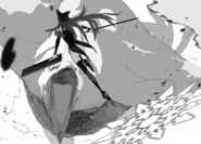 Chapter 4 (2018 manga) Blake prepares for the finishing blow on a Nevermore