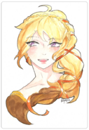Yang xiao long renaissance water color by kristina nguyen