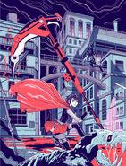 RWBY Grimm Street Fight Ruby Rose Print