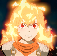 Yang's red eyes when using her sembelence