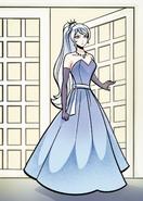 Weiss ballgown