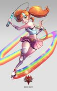 Amity Arena character art of Neon Katt