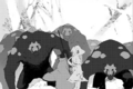 Chapter 2 (2018 manga) Ruby and Weiss encounters a pack of Beowolves