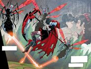 RWBY DC Comics 1 (Chapter 2) Ruby thinks about her mother awhile fighting Lancers 02