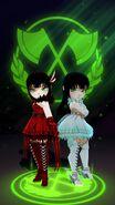RWBY AA Malachite Twins render