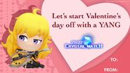 Crystal Match Valentine's card of Yang Xiao Long