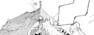 Chapter 15 (2018 manga) Oobleck observes the scene of Mountain Glenn