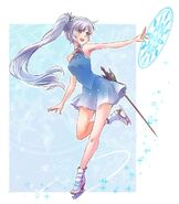 Amity Arena Figure Queen Weiss concept artwork by mojojoj