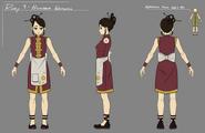 Higanaba Inn waitress concept art