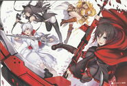 Team RWBY (RWBY Official Japanese Fanbook, Illustration,Nidy-2D-)