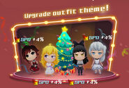 Crystal Match Christmas promotional material of Team RWBY
