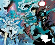 RWBY Justice League 6 (Chapter 11) Team RWBY and Justice League fighting Starro