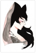 Blake belladonna renaissance water color by kristina nguyen