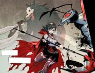 RWBY DC Comics 1 (Chapter 2) Ruby thinks about her mother awhile fighting Lancers 01
