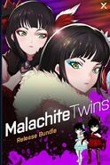 Amity Arena promotional material of the Malachite twins