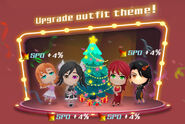 Crystal Match Christmas promotional material of Nora, Pyrrha, Neo, and Cinder