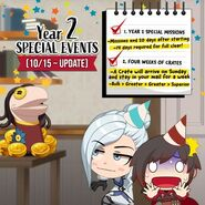 Amity Arena promotional material of Ruby and Winter for upcoming 2nd Anniversity