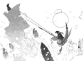 Chapter 5 (2018 manga) Team RWBY's combined attack, Cannonball