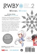 RWBY Official Manga (Vol. 2 Mirror Mirror, US) Back cover