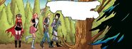 RWBY DC Comics 1 (Chapter 2) Team RNJR's travel in the forest of Hinoki