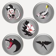 Button RWBY pack 3 large