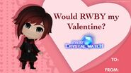Crystal Match Valentine's card of Ruby Rose