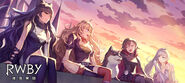 RWBY (Full Game, 2019) Promotional material of Team RWBy and Zwei