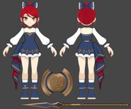 Amity Arena concept art of Pyrrha's Valentine outfit 02