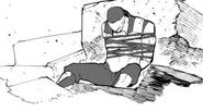 Chapter 19 (2018 manga) WF Lieutenant defeated by Blake off a panel