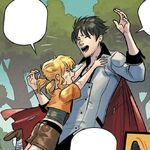 RWBY DC Comics 1 (Chapter 2) Qrow comforts Ruby and Yang.jpg