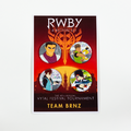 RWBY Vytal Button Pack 6 - Team BRNZ
